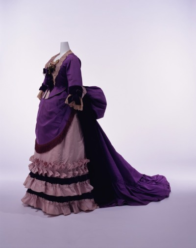 Dress by Worth || KCI || c. 1874 The Kyoto Costume Institute added new photos! I'm not sure if this is one of them, but I don't recognize it.. so I assume so!