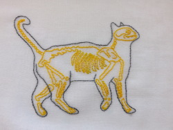 brerfly:  My second skeleton cat is done but now I have to figure out how to frame it.