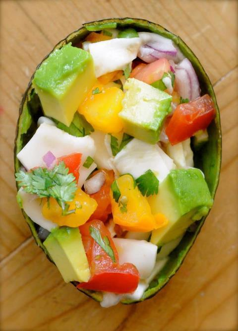 Need a little something to mix up your routine? Try this Coconut Ceviche! So flavorful! Ingredients:3 young coconuts with soft meat (if the coconut meat is hard it will be too hard to make ceviche)Juice of one lemon AND one lime2 regular sized heirloom tomatoes, diced1/4 of a medium red onion, diced 2 TBSP chopped cilantro½ tsp. Salt (Or to taste)1 avocado, cubedScoop young coconut out of shells and rinse well (keep coconut water for drinking). Cut in thin slices and toss in citrus juices. Mix in next 4 ingredients, cover and chill till serving time.Just before serving toss in avocado. Voila! You can also add fresh mango! Yum!   xoxoxxox Michelle