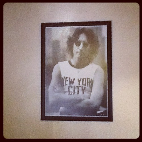 John's picture on my wall :)