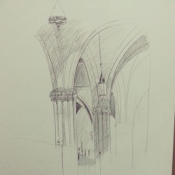 Drawing from St. Patricks cathedral #Drawing #art #church #cathedral #allthingsartx