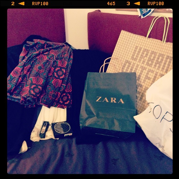 #loansin #shopping #treatingmyself #zara #urbanoutfitters #topshop