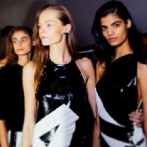 Belgian designer ANTHONY VACCARELLO gives good font for Day N °1 at #PFW #SS15  Photo by Kevin Tachman.