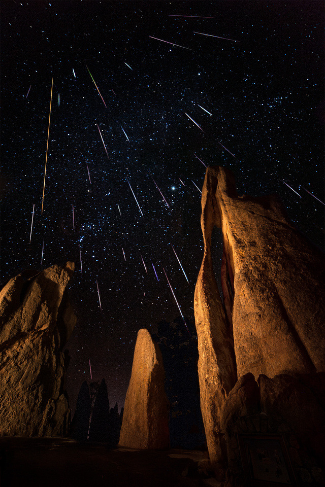 Eye of the Needle Geminids Meteor Shower by David Kingham