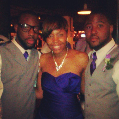 We came so far… Me && my little brothers at Kenny's wedding :-)