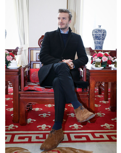 handsomebeastj:  Becks rocks an Alden Chukka in Snuff Suede. Happy retirement.