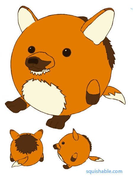 monstersandbigteeth:  Maned wolf squishable that I designed. It'd be super awesome if you went to the site and voted for it.