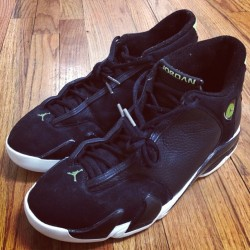 Jordan XIV. #tbt #1999 #OG #nike #jordan size 10.5. $150 PayPal ready. @greatergoodsco #greatergoodsandco @micktheruler came through with some joints! 🔥🔥🔥 #pregame #pregameatalestudios  (at Greater Goods & Co. @ ALE Studios)