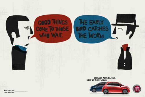 FIAT Advert Collection - Contradicting Sayings posters