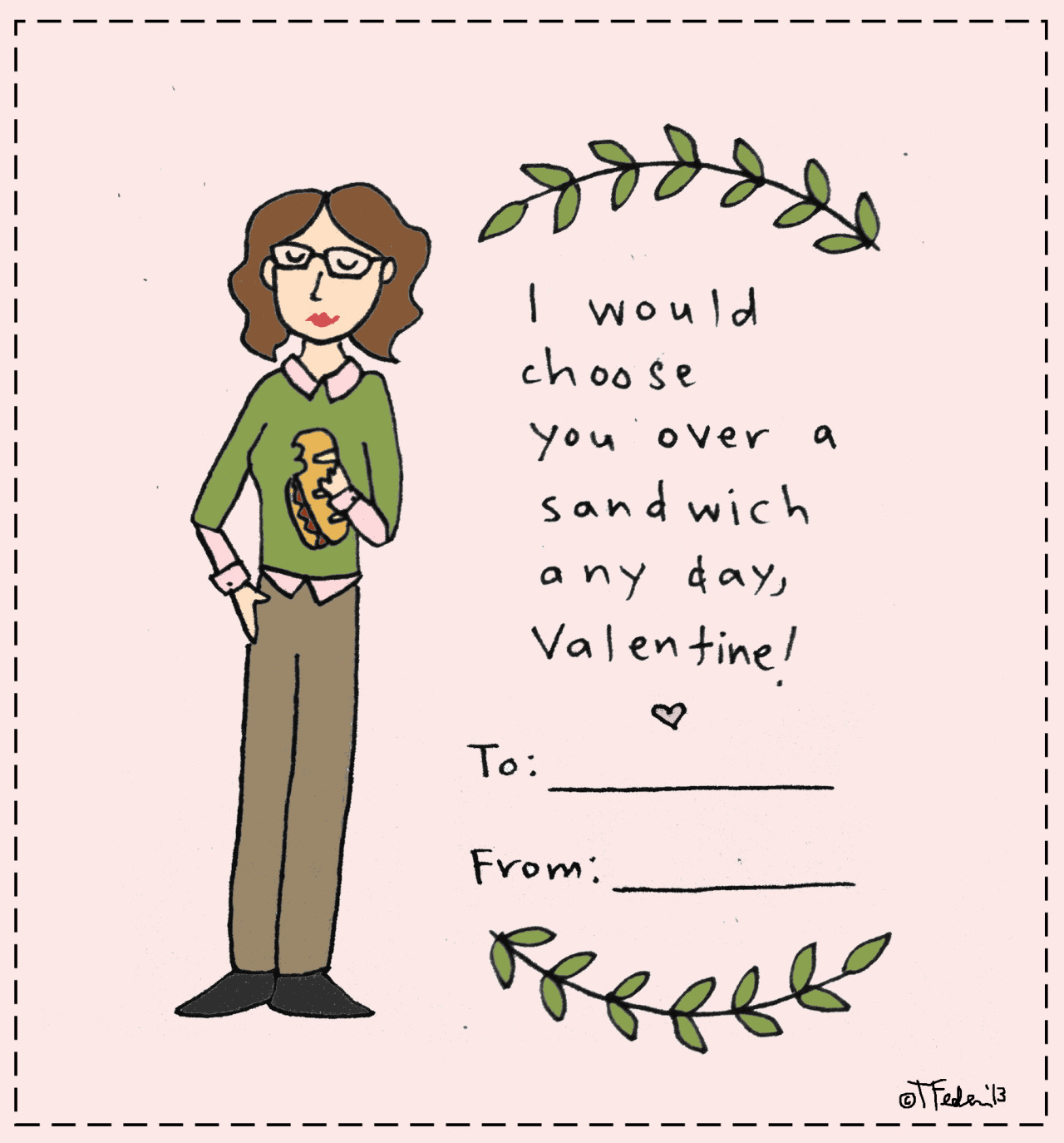 Sandwich Day valentine (by Tyler Feder)