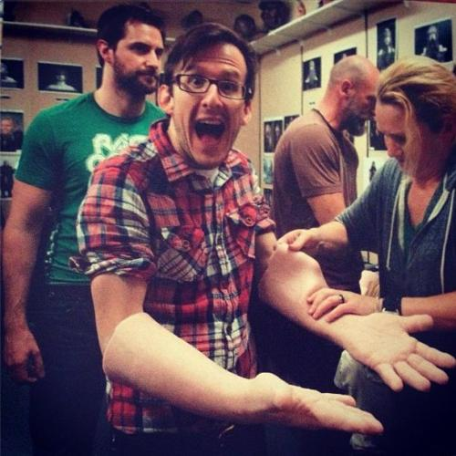 proudtobeanalien:  Armitage's arms should be illegal.