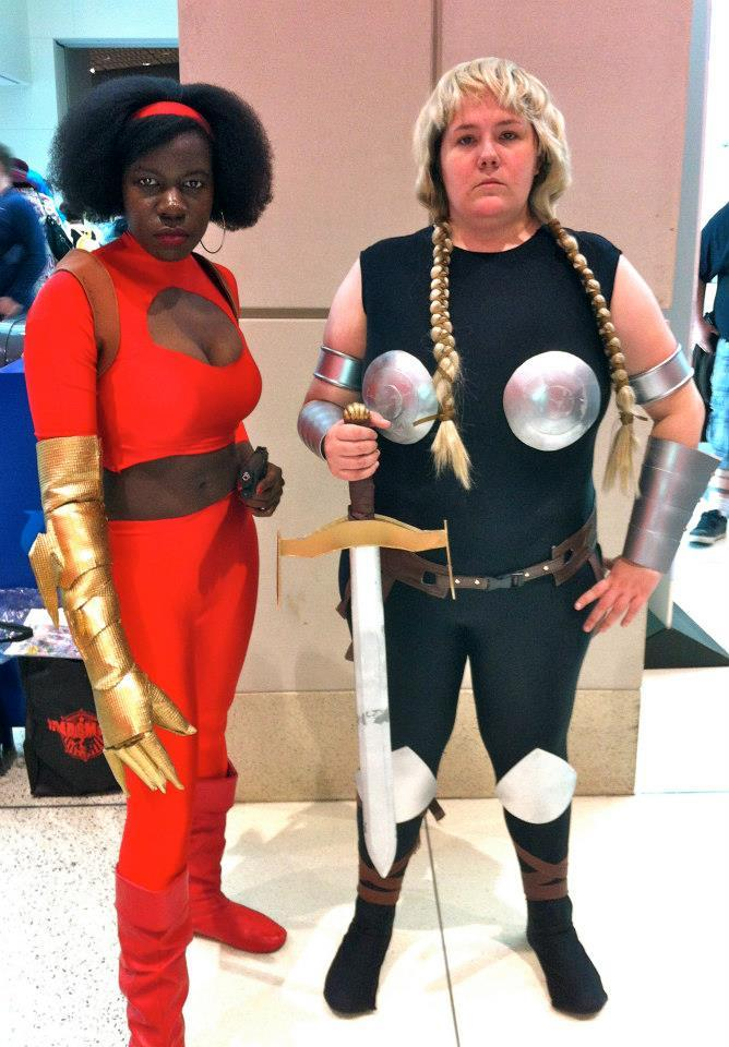 msjayjustice:   Some of my favorite pics of me as Misty Knight (version 2.0) from C2E2. I'm going to make a new arm for SDCC, & possibly another top. I do like how this one came out, it's my first prop using anti-fatigue foam. I hand sewed the costume, and borrowed the holster from the lovely Moe Hunt, an amazing cosplayer & costumer. I'm definitely going to be Misty Knight as often as possible, so if you happen to cosplay any of her teammates let me know!   It isn't even 6AM yet, and I just got a fangirl squee in before my tea.