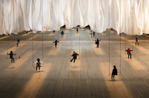 Ann Hamilton's the event of a thread at The Park Avenue Armoryis an interactive, performance-basedinstallation that's truly riveting and Flavorpill is hooking you up with a chance to attend (with a friend!) for FREE— http://ow.ly/guzEL  Photo by James Ewing