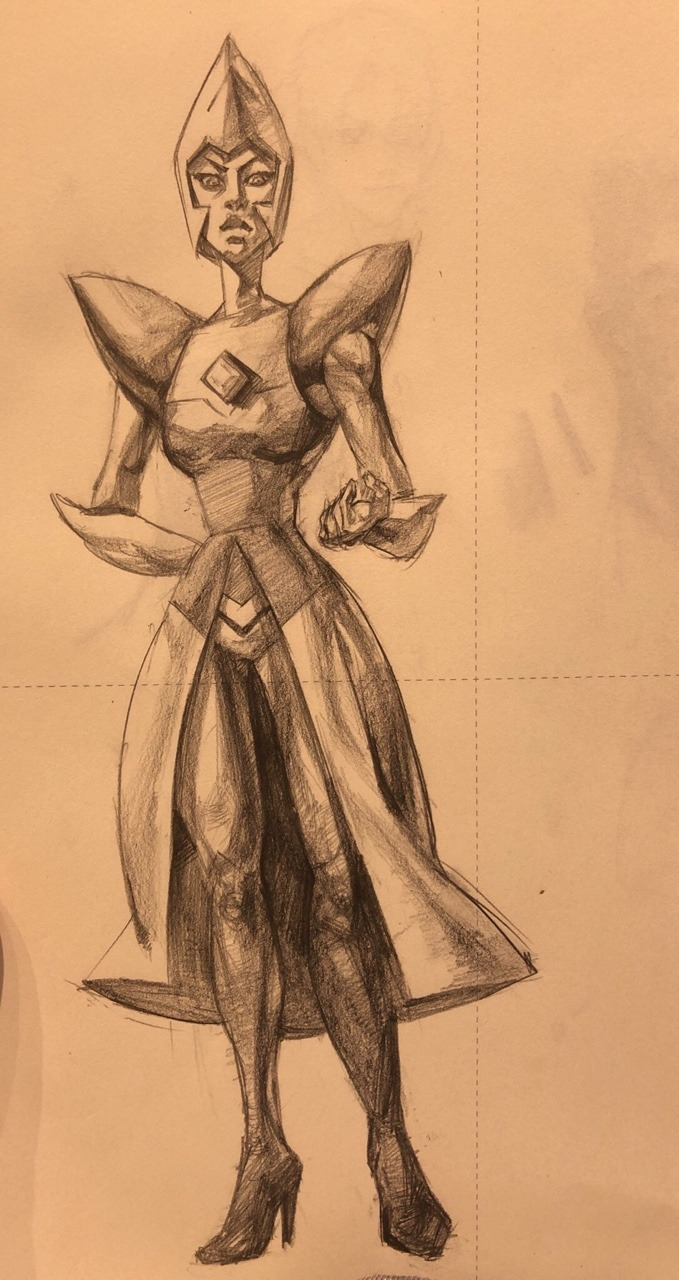 Yellow diamond doodle