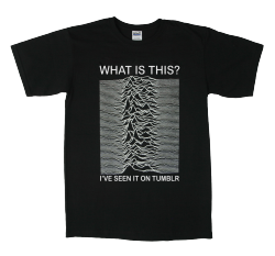 laughingsquid:  What Is This Unknown Pleasure, A Joy Division Album T-Shirt For the Tumblr Generation  I never replaced the one that got cut up (FOR NO VALID FUCKING REASON) after the crash…maybe?