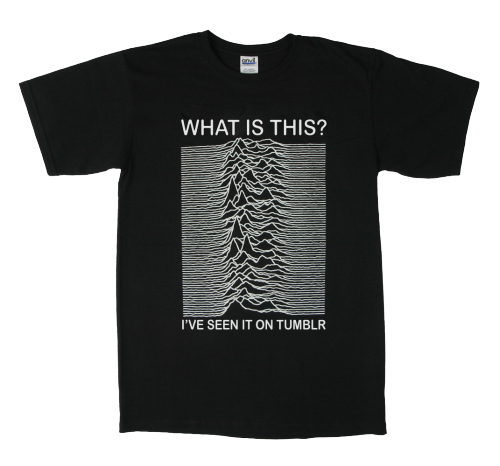 laughingsquid:  What Is This Unknown Pleasure, A Joy Division Album T-Shirt For the Tumblr Generation