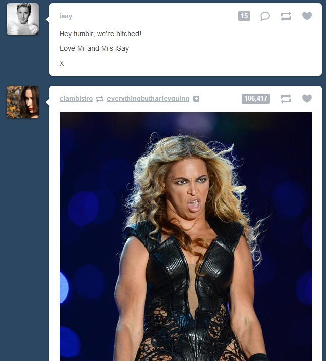 Stop it Beyonce, Jealousy doesn't suit you.