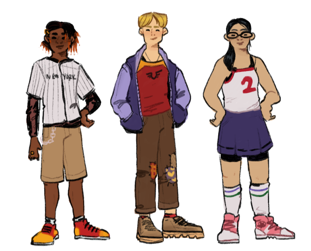 heres everyone from my impulse: senior year thing, all together! ideally, this would be what a new impulse run seeing max and bart move back to manchester for bart to finish high school would look like. #ik wade and ayana are as side character as you can get but i might also draw mikes dad and the parkers so. keep and eye out i guess dshfdsgf #dc#impulse 1995#bart allen#preston lindsay#carol bucklen#mike ringer#eddie parker #evil eye parker #rolly#wade#ayana #cissie king jones #thad thawne#max crandall#helen claiborne#my art