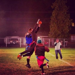 this guy INTERCEPTION! Flag football champions! #sports #football#wallawallauniversity  http://copygr.am/jon_mclane/371403012347808947_278805018/