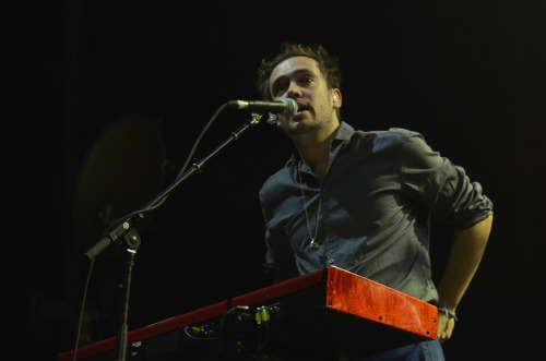 Ben Lovett of Mumford & Sons performs at the Sydney Entertainment Centre on 18th October 2012. Photo courtesy of Music Feeds.