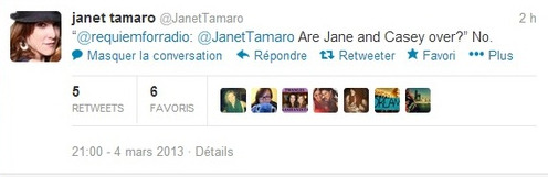 rizzlesunlimited:  Janet's Tweets Are… Informative  We'd give you a link for this tweet, but, as soon as we hit the print screen option, this answer mysteriously disappeared from her feed. If it pops back up, we'll link this for you.  View Post