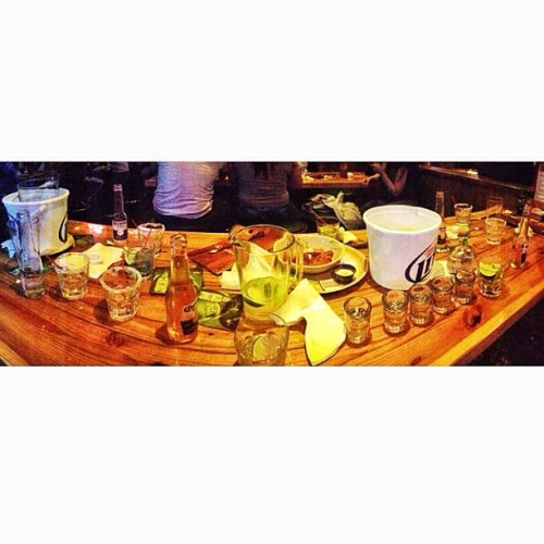 Our table right now.. #patron #coronas #margaritas #bluelongislands #miller #mojitos @illmattik @titobiggz  (at Miller's Ale House)