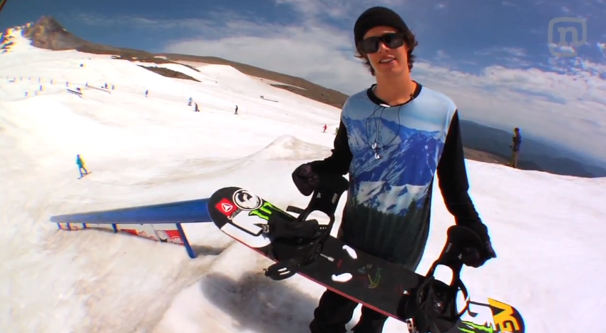 Switch F/S 270's onto a down bar with Burton Snowboarder Zak Hale! Click the photo for the tip!