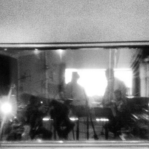Arco quartet on the final day of recording.