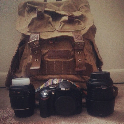 Camera backpack, 55-200mm lens, and camera strap came in :D. A few more items left to come.  #DSLR #Nikon #camera