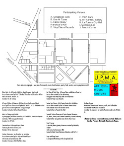 Map and list of events taking place this Saturday at UPMA Artwalk!   More info at the facebook page