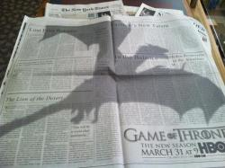 Game of Throne ad in the New York Times