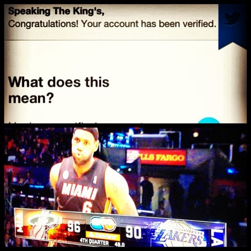 Way stoked @stkofficial got verified on twitter!! Also, @kingjames rules.