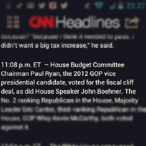 The Republicans actually worked with the Democrats? Still in shock. #fiscal cliff