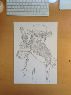 Self promotion piece - popular culture - django unchained - unfinished