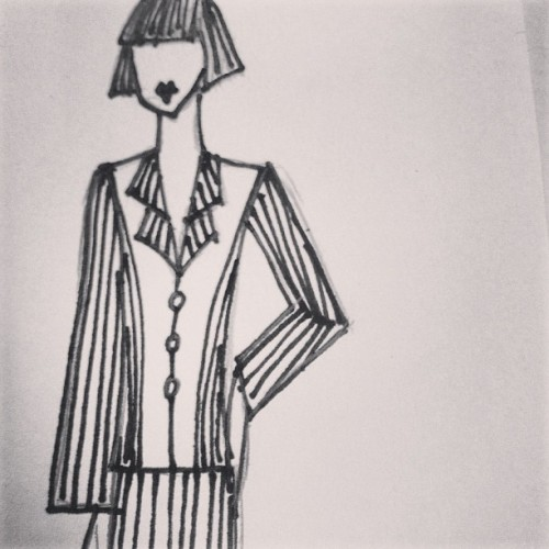 Corporate wear perhaps? #blackandwhite #fashionsketch #andytruong #australiandesigners #australianfashion #dummy #mannequin #croquis #slim #suit #executive #design #designer #stripe #collection #rhythm #sketch #fashiondesigner #pinstripe #blazer #pencilskirt #sophisticated  (at www.andytruongworld.tumblr.com)
