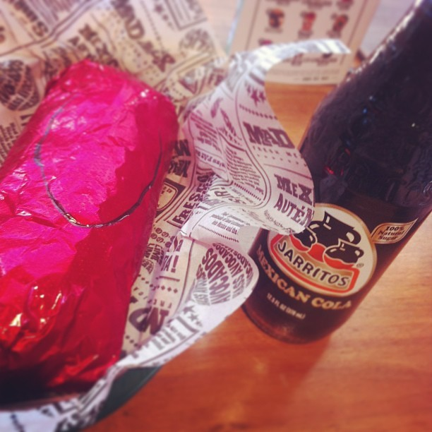 #madmex #burrito #jarritos #mexicancola #mexican #food #yum  (at Mad Mex)