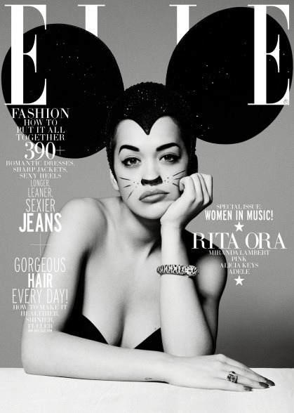 Rita Ora on the cover of ELLE