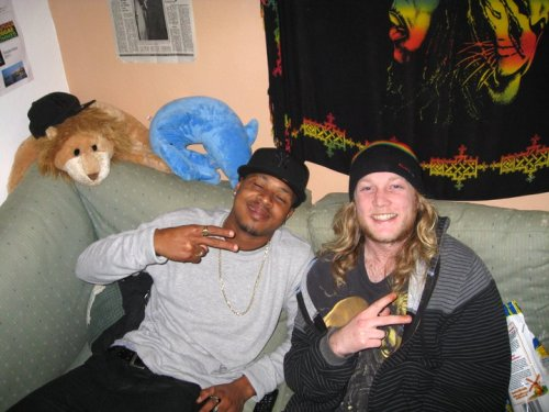 Mello and I bossin out in that old basement chillzone.. #timeFlies