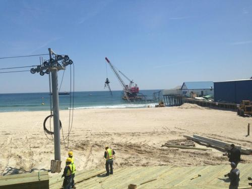 Seaside Heights, New Jersey roller coaster damaged by Sandy being torn down Photo: NBC's Stephanie Gosk