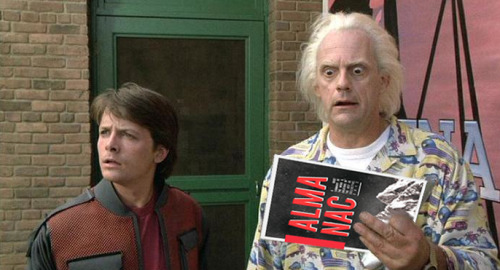 Doc explains to Marty that the Almanac is not something to take around in a time machine… Grab a copy here