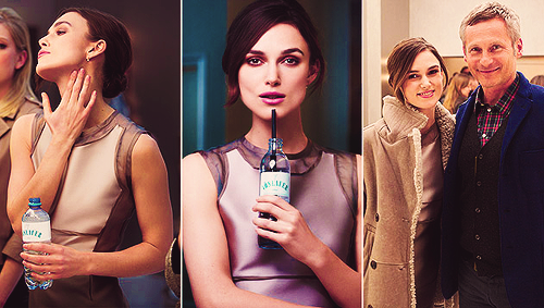 Keira is the new face for the 2013 campaign of Austrian water Vöslauer. You can read more about that here (in German) and watches a bts video/interview here.