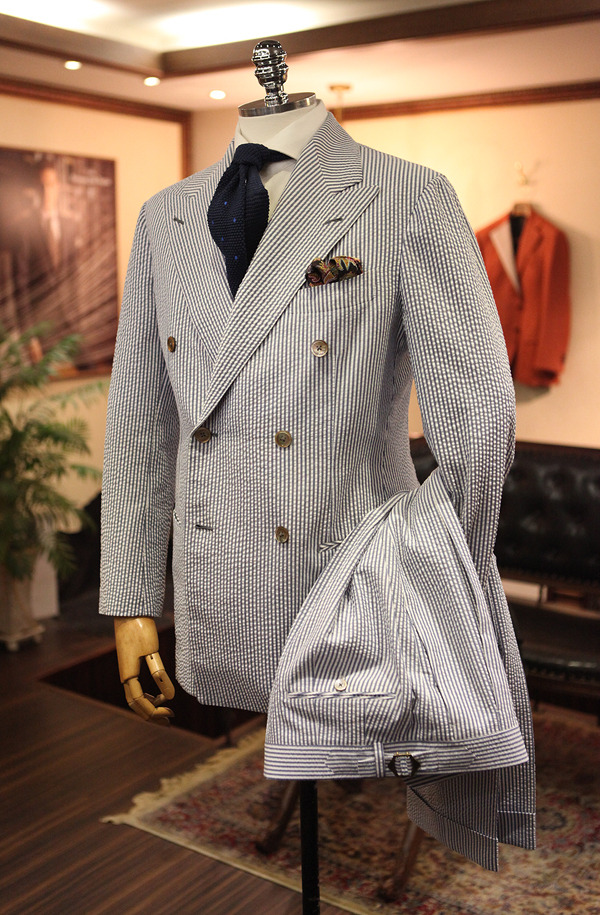 Seersucker Doublebreast Suit by B&Tailor