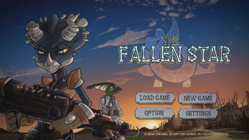 The Fallen Star Title Screen Mock up