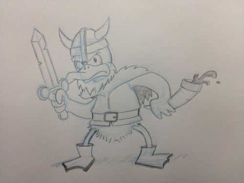 I felt like drawing another duck, so here's a viking.