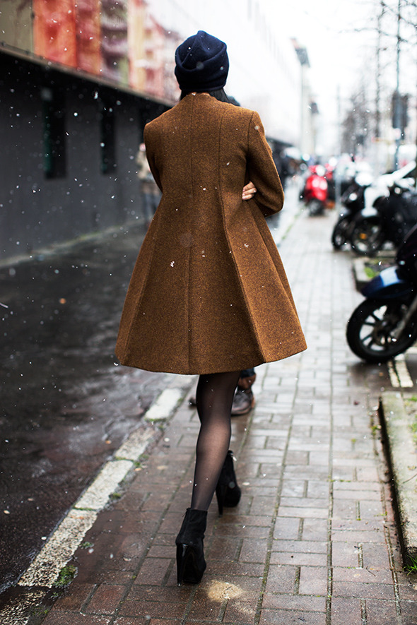 fashion-streetstyle:  A Perfect Coat Looks Great from the Front & Back, Milan