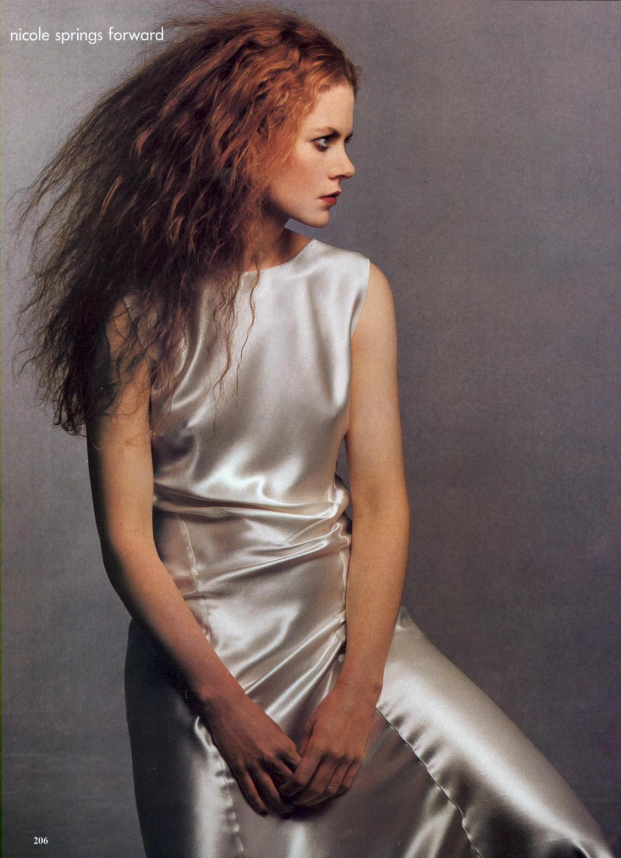 Nicole Kidman: Nicole Springs Forward - Vogue by Steven Meisel, February 1995