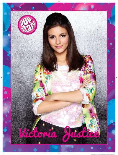 Love this floral blazer! victoriajustice:  Here's my exclusive poster for the May issue of Popstar! Magazine! It's in stores now!