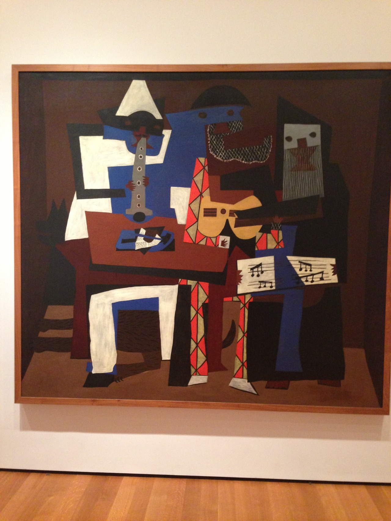 8 of my favorite art pieces from the MOMA:  1. The Three Musicians—Pablo Picasso 2. Echo #25—Jackson Polluck 3. I forgot to write down the title and artist, but a really neat deconstructed modern nude. 4. The Bather—Paul Cezane 5. Broadway Boogie Woogie—Piet Mondrian 6. Spiderman—Sigmar Polke 7. The Scream—Edvard Munch 8. Madonna—Edvard Munch