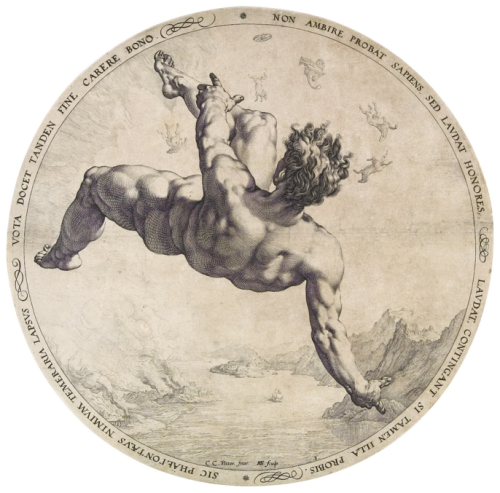 rudychic:  Phaethon from the Four Disgracers series 1588 Hendrik Goltzius  The National Gallery in Prague