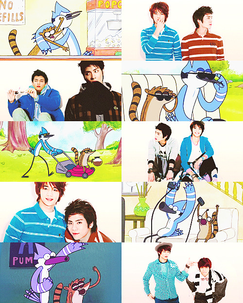 "SHINee x Regular Show AU meme → jongho. - minho as mordecai & jonghyun as rigby - ""ooooOOOOHHHHHHH!"""